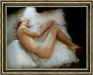 "Original  Oil Painting female art nude girl on canvas 30""x40"""