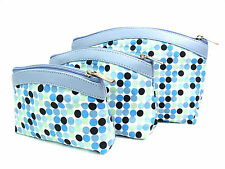 HIGH QUALITY RETRO STYLE SET OF 3 COSMETIC MAKE UP BAGS TRAVEL WASH HOLIDAY BAGS