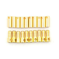 10 Pairs 5.5MM Gold Plated Bullet Banana Plugs Male&Female Connectors  LJ J;AU