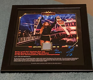 wwe Becky Lynch signed Wrestlemania plaque