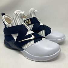 Nike Lebron Soldier XII SFG Basketball Shoes, 11.5 US, White/Navy