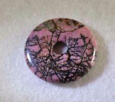 Rhodonit Donut Anhänger 40 mm