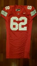 #62 Red Game Worn Ohio State Buckeyes Football Jersey - Size 54 - Nike Team