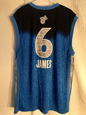 Adidas NBA Jersey Miami Heat LeBron James Light Blue All-Star sz 2X