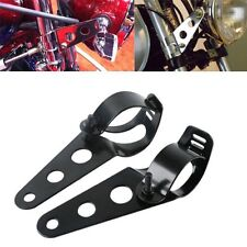 Fork Clamp Headlight Mounting Brackets For Harley Yamaha With 28mm-38mm Tubes BK