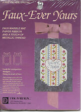 """Faux-Ever Yours """"You Are Special"""" Counted Cross-Stitch Embroidery Kit 5""""X7"""" NIP"""