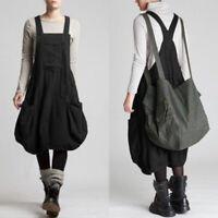 Mode Femme Casual en vra Loisr Poche Sans manches Loose Robe Dresse Oversize