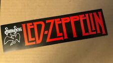 Swan Song LED ZEPPELIN Bumper Sticker - Original Decal from the 1980's - 3X11
