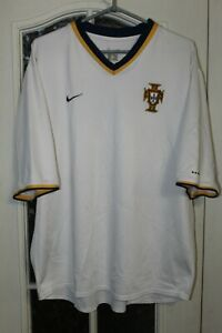 Portugal 2000 2001 2002 Away Nike White Soccer Shirt Jersey Size adult XL
