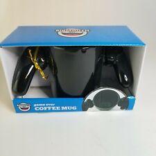 NIB Game Over Coffee Mug Big Mouth Inc Black Ceramic Cup Playstation Controller