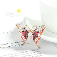 Butterfly Insect Brooches For Women Jewelry Alloy Pearl Enamel Pin Brooch Gift