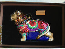 NEW in Box Jay Strongwater CAROUSEL LION Glass Christmas Ornament