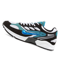 NIKE MENS Shoes Air Ghost Racer - Black, Mineral, Teal & Black - OW-AT5410-004