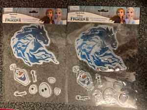 Disney Frozen 2  Window Stickers 2 packets Of Elsa And Olaf NEW
