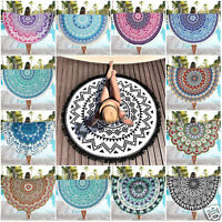 Bohemian Mandala Round Beach Tapestry Hippie Wall Hanging Throw Yoga Mat