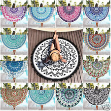 Bohemian Mandala Round Beach Tapestry Hippie Wall Hanging Throw Yoga Mat Towel