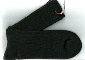 Socken Wollsocken schwarz gestrickt 52 - 54  75% Schurwolle 25% Polyamid B150