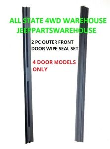 Window Sweep Outer Front Door, Set of 2 for 84-96 Jeep Cherokee Wagon XJ- 4 DOOR
