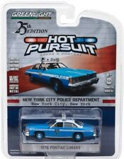 2018 GreenLight HOT PURSUIT NYPD 1976 PONTIAC LeMANS POLICE CRUISER mint card!