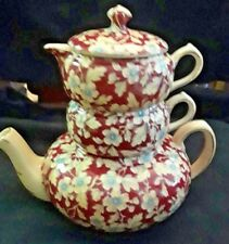 "Royal Grimwades Lord Nelson ""Royal Brocade""  Stacking Chintz Teapot"
