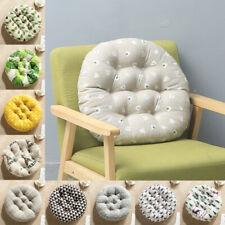 Round Seat Cushion Cotton Linen Cushion Pillow Home Office Decor Floor Seat Pad