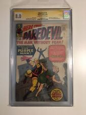 Daredevil 4 CGC 8.0 Signed by Stan Lee