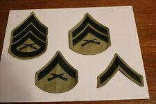 Set of 4 US Marine Corps Stripes E2, 3, 4, & E6
