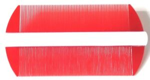 1 NEW VINTAGE RED HAIR 2 SIDED FINE TOOTH COMB HEAD HAIR LICE EGGS DUST REMOVAL