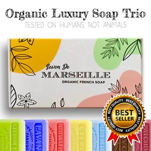 Savon de Marseille French Natural Soap Organic Shea Butter LUXURY GIFT SET Xmas