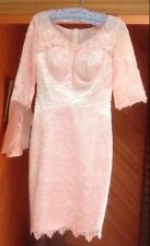 Mother of the Bride Izilady Pink SheathColumn VNeck Knee Length Lace Dress BNWT