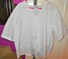 Scrubs Only White Top 3XL  **REDUCED**