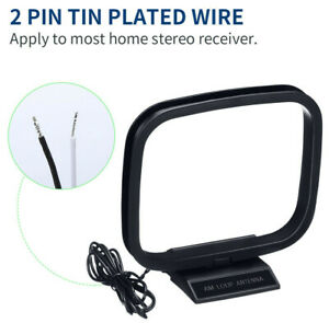 AM/FM Loop Antenna w/ 2 Pin Connector for Stereo Audio Receiver System Indoor CA