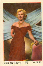 DUTCH MOVIE STAR GUM CARDS - No. 029 VIRGINA MAYO