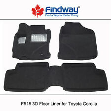 Black All Weather 3D Car Floor Mats / Floor Liners for 2003-2008 Toyota Corolla