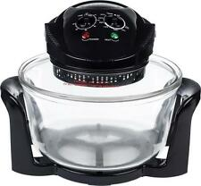 Andrew James 12 LTR Halogen Oven Premium Convection Cooker Black 1400 Watts
