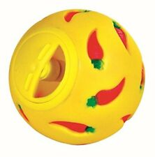 WHEEKY Treat Ball for Guinea Pigs and Other Small Pets Yellow Adjustable Opening