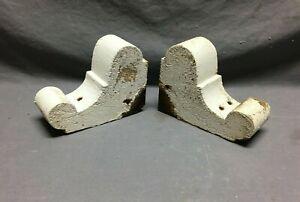 Small Pair Antique Wood Porch Corbels Shabby VTG Chic Shelf Brackets 566-21B