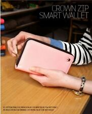Crown Zip Smart Wallet (Light Pink)