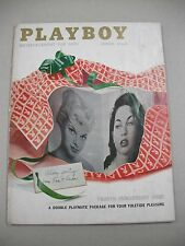 """PLAYBOY"" 12/57 VG 4TH ANN ISSUE! LINDA VARGAS CF! LISA WINTERS PICS BY YEAGER!"