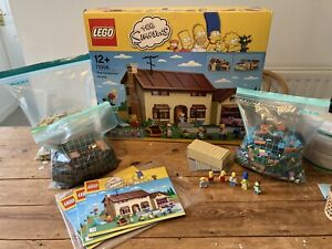 Lego Simpsons House 71006 Complete With Figures - In Box With Instructions
