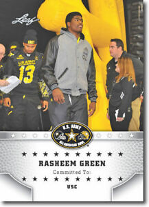 "RASHEEN GREEN 2015 LEAF ""1ST EVER PRINTED"" HIGH SCHOOL ARMY ROOKIE CARD"