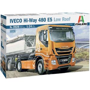 Italeri 3928 1/24 Iveco Hi-Way 480 E5 Low Roof Plastic Model Kit Brand New