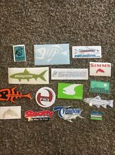 15 Fly Fish Fishing Stickers! Simms Scotty Sage Orvis Free Fly Typhoon Patagonia