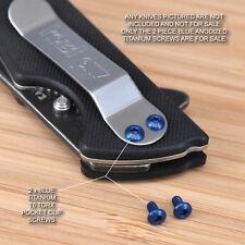 Kershaw Skyline 1760 2pc Custom Anodized Titanium Pocket Clip Screw Set - BLUE