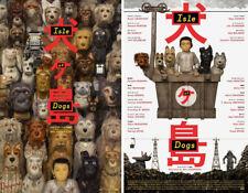 "Isle Of Dogs ***Original Movie Poster Set of 2 / Size:13.5""x20"" ***Wes Anderson"