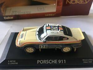 PORSCHE 911 WINNER OF THE DAKAR 1984 R.METGE / D.LEMOYNE NOREV 750051 1/43 SCALE