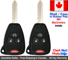 2x New Replacement Keyless Remote Key Fob For Chrysler Dodge Jeep Shell / Case