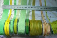 YELLOW & GREEN Tones 5 10 15 18&38mm Wide 2 3 & 5 Metres 9 Design Style Choice