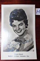 Postkarte Ansichtskarte Schauspielerin Brigitte Rabald Autogramm