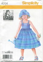 Patty Reed SunDress Hat Sewing Pattern 5-8 Simplicity 4204 OOP